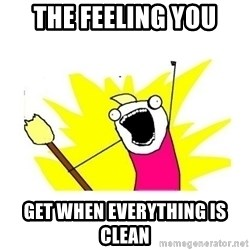 clean all the things blank template - the feeling you get when EVERYTHING is clean