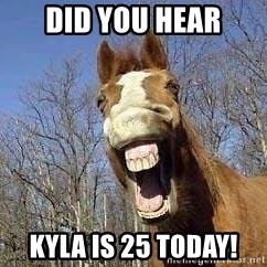Horse - Did you hear Kyla is 25 today!