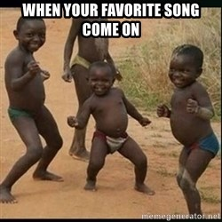 Dancing black kid - when your favorite song come on