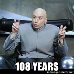 dr. evil quotation marks - 108 years