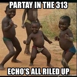 Dancing black kid - partay in the 313 echo's all riled up
