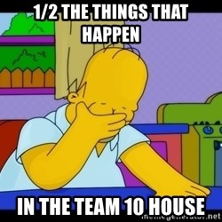 Homer Facepalm - 1/2 the things that happen In the team 10 house