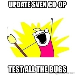 clean all the things blank template - Update Sven Co-op test all the bugs