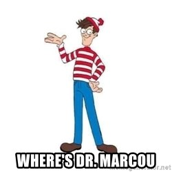 Where's Waldo - Where's Dr. Marcou