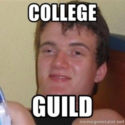 high/drunk guy - COLLEGE GUILD