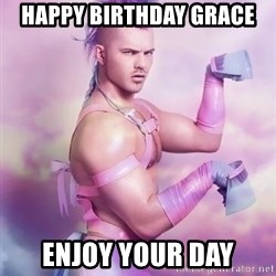 Unicorn Boy - Happy Birthday GRACE  Enjoy Your day