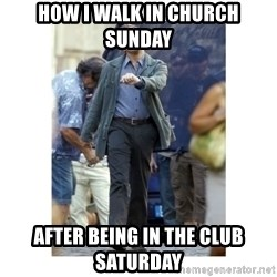 Leonardo DiCaprio Walking - How I walk in church Sunday After being in the club Saturday