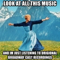 Sound Of Music Lady - look at all this music and im just listening to origional broadway cast recordings