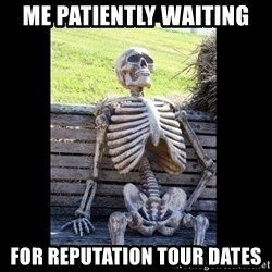 Still Waiting - me Patiently waiting for Reputation tour dates