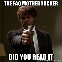 Jules Pulp Fiction - The faq mother fucker did you read it