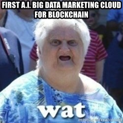 Fat Woman Wat - First A.I. Big Data Marketing Cloud for BlockChain
