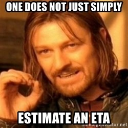 ODN - one does not just simply estimate an eta