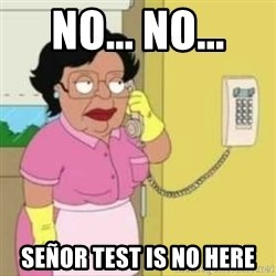 Family guy maid - NO... NO... SEÑOR TEST IS NO HERE
