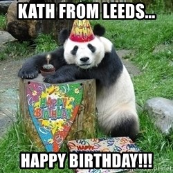 Happy Birthday Panda - Kath from Leeds... Happy Birthday!!!