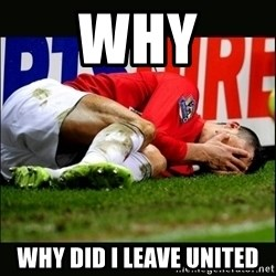 cristiano ronaldo crying - Why Why did I leave united