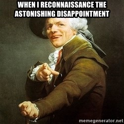 Ducreux - When I reconnaissance the astonishing disappointment