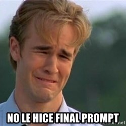 James Van Der Beek - No le hice final prompt