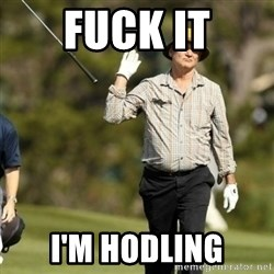 Fuck It Bill Murray - Fuck it I'm HODLING