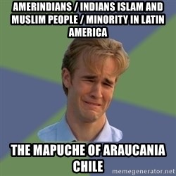 Sad Face Guy - Amerindians / Indians Islam and Muslim People / Minority in Latin America The Mapuche of Araucania Chile