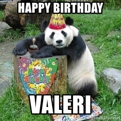 Happy Birthday Panda - happy birthday valeri