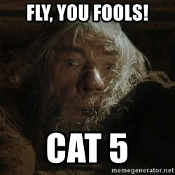 gandalf run you fools closeup - FLy, You fools! Cat 5