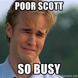 James Van Der Beek - Poor scott So busy