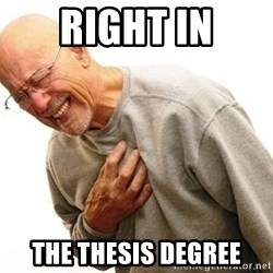 Old Man Heart Attack - Right in The thesis degree