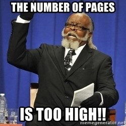 Rent Is Too Damn High - The number of pages Is too High!!