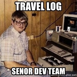 Nerd - travel log senor dev team