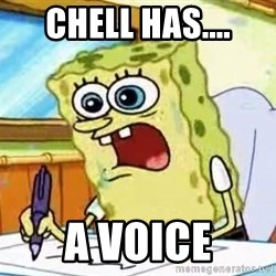Spongebob What I Learned In Boating School Is - Chell has.... A voice