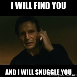 liam neeson taken - I will find you And I will snuggle you