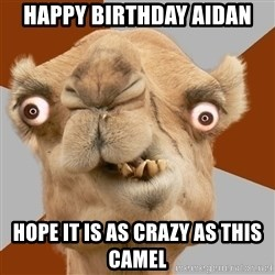 Crazy Camel lol - Happy Birthday AIDan Hope it is as crazy as this camel
