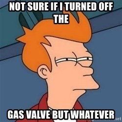 Not sure if troll - Not sure if i turned off the Gas valve but Whatever