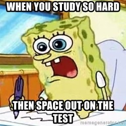 Spongebob What I Learned In Boating School Is - when you study so hard then space out on the test