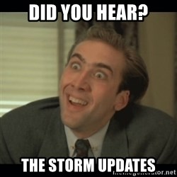 Nick Cage - Did you hear? The storm updates