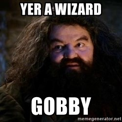 Yer A Wizard Harry Hagrid - Yer a wizard Gobby