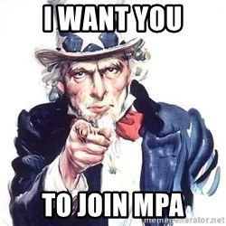Uncle Sam - I want you to join MPA