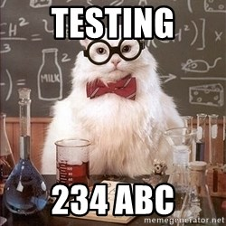 Science Cat - Testing 234 abc