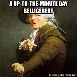 Ducreux - A up-to-the-minute day belligerent
