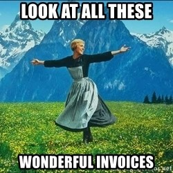 Look at all the things - look at all these wonderful invoices