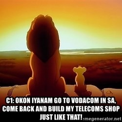 simba mufasa - C1: OKON IYANAM GO TO VODACOM IN SA, COME BACK AND BUILD MY TELECOMS SHOP JUST LIKE THAT!