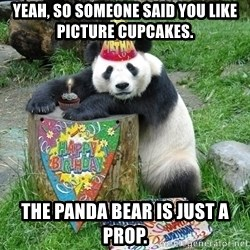 Happy Birthday Panda - yeah, so someone said you like picture cupcakes. the panda bear is just a prop.