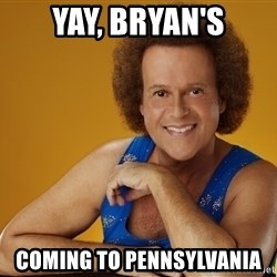 Gay Richard Simmons - Yay, bryan's Coming to pennsylvania