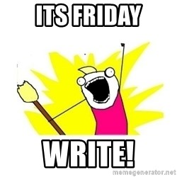 clean all the things blank template - its friday write!