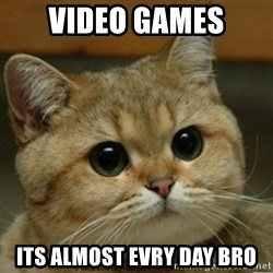 Do you think this is a motherfucking game? - Video games Its almost evry day bro