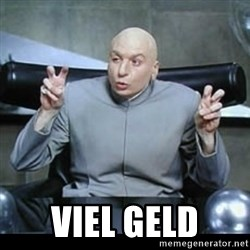 dr. evil quotation marks - viel geld