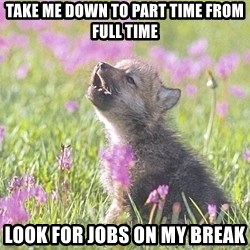Baby Insanity Wolf - Take me down to part time From full time Look for jobs on my bReak