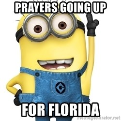 Despicable Me Minion - Prayers going up For florida
