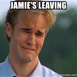Crying Man - Jamie's leaving