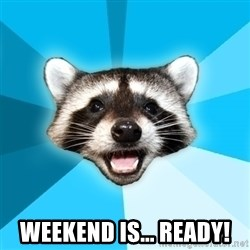 Lame Pun Coon - Weekend is... Ready!
